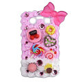Bowknot ice cream cake case for BlackBerry 9700 - pink