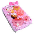 Crystal cream cake case for BlackBerry 9700 - pink