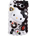 Hello Kitty crystal cream cake case for BlackBerry 9700 - brown