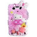 Hello Kitty crystal cream cake case for BlackBerry 9700 - pink