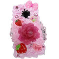 Lovely flower ice cream cake case for BlackBerry 9700 - pink