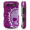 Skull Pattern Bling crystal case for BlackBerry 9700 - purple