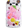 Strawberry ice cream cake case for BlackBerry 9700 - pink