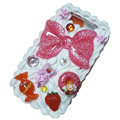 Bowknot crystal cream cake case for BlackBerry 9800