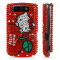 Hello Kitty bling crystal case for BlackBerry 9800 - red