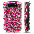 Zebra bling crystal case for BlackBerry 9800 - pink
