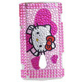 Hello Kitty bling crystal case for Sony Ericsson X10 - pink