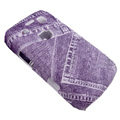 Jeans Pattern Hard Plastic case for Blackberry 9700 - purple