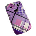 Lattice pattern Hard Plastic case for Blackberry 9700 - purple