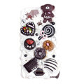 Lovely bear ice cream cake case for Sony Ericsson X12 - brown