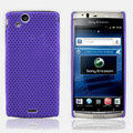 Mesh Hard Case For Sony Ericsson Xperia Arc LT15i X12 - purple