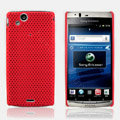 Mesh Hard Case For Sony Ericsson Xperia Arc LT15i X12 - red