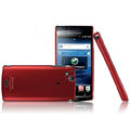 IMAK Ultra-thin color covers for Sony Ericsson Xperia Arc LT15i X12 - red
