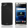 Mesh Hard Case For Sony Ericsson Xperia Arc LT15i X12 - black