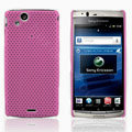 Mesh Hard Case For Sony Ericsson Xperia Arc LT15i X12 - pink