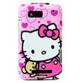 Hello Kitty color covers for Motorola MB525 - pink