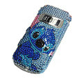 Blue Cartoon bling crystal case for Nokia C7