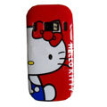 hello kitty hard cover case for Nokia C7 - red