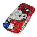hello kitty bling crystal case for Nokia C7 - red