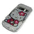 hello kitty bling crystal case for Nokia C7 - white