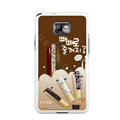 Chocolate pie finger pattern Silicone Case For Motorola MB860 - brown