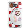 Cookies pattern Silicone Case For Motorola MB860 - red