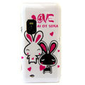 LOVE Rabbits color covers for Nokia E7 - white
