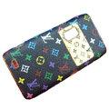 LV Luxury plating leather case for Nokia E7 - black Pattern