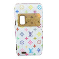 LV Luxury plating leather case for Nokia E7 - white Pattern