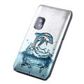 Whale Color Painting case for Nokia E7 - blue
