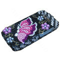 Butterfly bling crystal case for Nokia E71 - pink