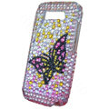 Color butterfly bling crystal case for Nokia E71