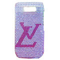 LV bling crystal case for Nokia E71 - pink