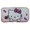 Kitty bling crystal case for Nokia C5-03 - rose