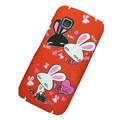 Love rabbits color covers for Nokia C5-03 - red