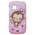 Lovely monkey bling crystal case for Nokia C5-03 - pink