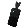 Rabbit Ears Silicone Case For Nokia C5-03 - black