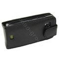 Leather holster case for Nokia C5-03 - black