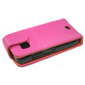 Leather holster case for Nokia C5-03 - pink