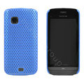 Mesh case cover for Nokia C5-03 - blue