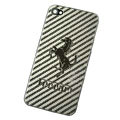 Metal back cover case for iPhone 4G - Pony