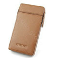 leather holster case for Samsung i997 infuse 4G - brown