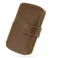 PDair holster leather case for Sony Ericsson Vivaz U5i - brown