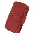 PDair holster leather case for Sony Ericsson Vivaz U5i - red