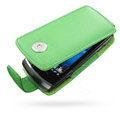 Springhk holster leather case for Sony Ericsson Vivaz U8i - green