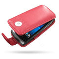 Springhk holster leather case for Sony Ericsson Vivaz U8i - red