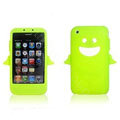 Angel and Devil Silicone Case for iPhone 3G/3GS - Angel green