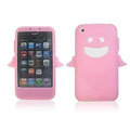 Angel and Devil Silicone Case for iPhone 3G/3GS - Angel pink