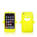 Angel and Devil Silicone Case for iPhone 3G/3GS - Angel yellow