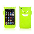 Angel and Devil Silicone Case for iPhone 3G/3GS - Devil green